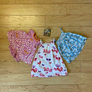Baby Boden Girl 3-6M Top Pink Blue Butterfly
